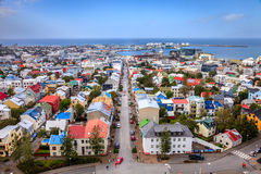 Dessus de toit de Reykjavik photo libre de droits