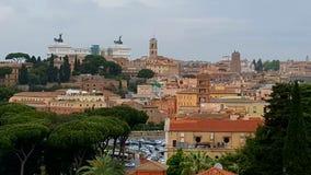 Dessus de toit de Rome, Italie Images stock