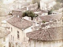 Dessus de toit de style de vintage dans les Frances Image libre de droits