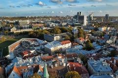 Dessus de toit de Tallinn Estonie Photos libres de droits