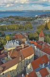 Dessus de toit de Tallinn Estonie Photographie stock