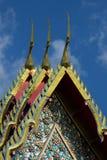 Dessus de toit de temple Photographie stock