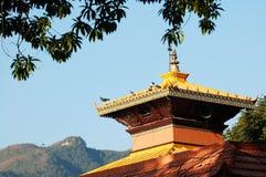 Dessus de toit de temple Images libres de droits