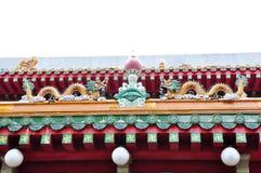 Dessus de toit de temple bouddhiste Images libres de droits