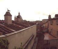 Dessus de toit de tuile de Rome, Italie Photos stock