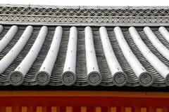 Dessus de toit de type japonais Images libres de droits