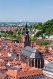 Dessus de toit de vieille ville d'Heidelberg, Baden-Wurttemberg, Allemagne Image libre de droits