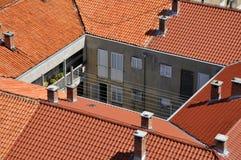 Dessus de toit de vieille ville de Zadar Images libres de droits