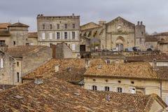 Dessus de toit de vieux village Photo stock