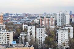 Dessus de toit de ville Images libres de droits
