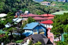 Dessus de toit de ville de Baguio Photographie stock libre de droits
