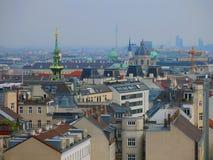 Dessus de toit de ville de Vienne photographie stock libre de droits
