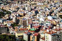 Dessus de toit de voisinage de Malaga Photo stock