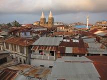 Dessus de toit de Zanzibar Photos libres de droits