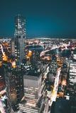 Dessus de toit du centre de Manhattan Photos stock
