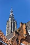 Dessus de toit et tour d'église à Amersfoort Photo libre de droits