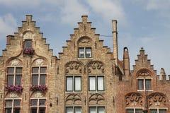 Dessus de toit fleuris et historiques Image libre de droits