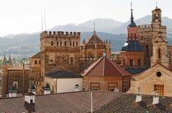 Dessus de toit Guadalupe Espagne Photos libres de droits