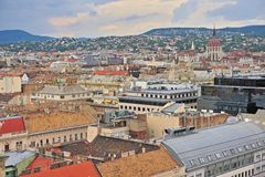 Dessus de toit de la ville de Budapest, capitale de la Hongrie Photo stock