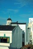 Dessus de toit Madrid Espagne avec l'église Images stock