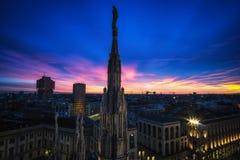 Dessus de toit de Milan Duomo Image libre de droits