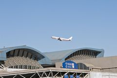 Dessus de toit modifié d'aéroport de Pékin Photographie stock libre de droits