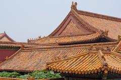 Dessus de toit orientaux, Pékin Chine Photo stock