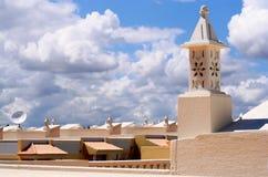 Dessus de toit portugais photographie stock libre de droits