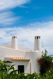 Dessus de toit portugais dans Algarve, sao Rafaël Images libres de droits