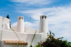 Dessus de toit portugais traditionnel Algarve, sao Rafaël Images stock
