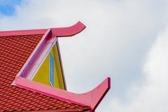 Dessus de toit rouge et jaune Image libre de droits