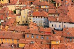 Dessus de toit rouges Photos libres de droits