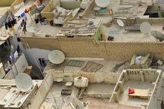 Dessus de toit de secteur résidentiel dans Doha Qatar photos libres de droits