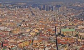 Dessus de toit de vieille ville de Naples, Italie photographie stock libre de droits