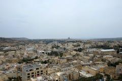 Dessus de toit de ville, Rabat Victoria, Gozo photographie stock libre de droits