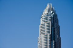 Dessus de tour de la Banque d'Amérique Image libre de droits