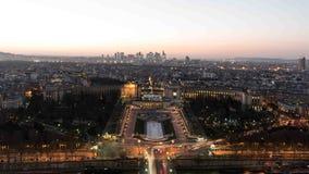Dessus de Tour Eiffel la nuit Image libre de droits