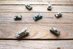 Dessus de vieux réservoirs de jouet Photos libres de droits