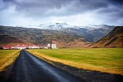 Dessus de volcan couvert par glace d'Eyjafjallajokull Photographie stock