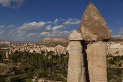 Dessus des formations de roche préhistoriques devant le velley d'amour au TU Images libres de droits