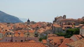 Dessus des maisons dans Dubrovnik, Croatie Images libres de droits