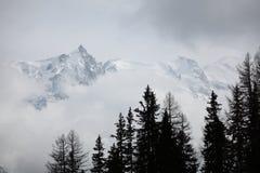 Dessus des montagnes Photo libre de droits