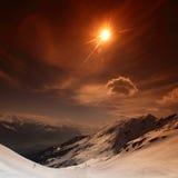 Dessus des montagnes Photos libres de droits