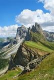Dessus des montagnes Photographie stock libre de droits