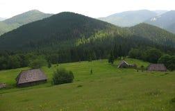 Dessus des montagnes Images libres de droits
