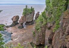 Dessus des roches de Hopewell Photos stock