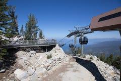Dessus des sud merveilleux le lac Tahoe de gondole Photographie stock