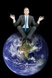 Dessus du monde Photo libre de droits