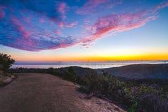 Dessus du monde, ciel de coucher du soleil de Laguna Image stock