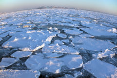 Dessus du monde - océan arctique - le Groenland Images libres de droits